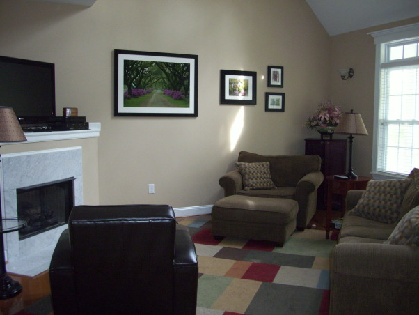 Information about rate my space hgtv for Awkward living room layout with corner fireplace