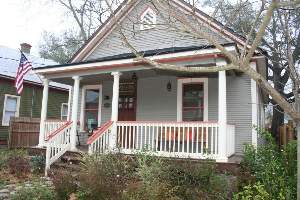 Condemned $20k Historic House Saved!, Located in the nationally recognized neighborhood of Jacksonville-Springfield, Florida, I bought this condemned home after seeing it for sale on the internet.  , Custom transom window, landscaping growth since inception  , Home Exteriors