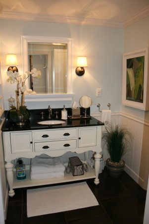Before & After Sink Console Project, Inspired by Pottery Barn & Restoration Hardware sink consoles, I found one in a local store that just needed some TLC.  , finished console project, Bathrooms Design