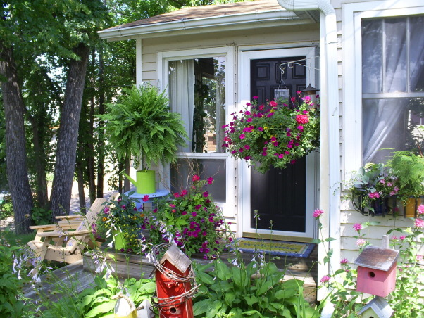 My Small Front Porch , I have a very small from porch with a small flower garden in front., My small front porch. , Porches Design