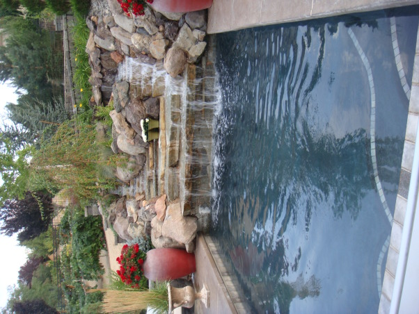 Our Disneyland, My husband designed this back yard, it was done in stages over three years.  We spend a lot of time in our back yard. , This is our pool, which is kept heated so we call it a spool. , Yards Design