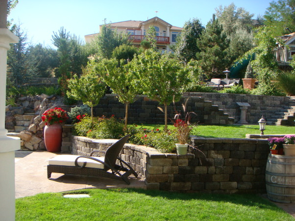 Our Disneyland, My husband designed this back yard, it was done in stages over three years.  We spend a lot of time in our back yard. , Yards Design