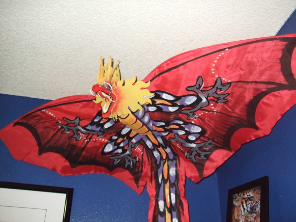 Asian Anime Teens Room, Girls Asian Anime Bedroom, kite dragon to protect her, Bedrooms Design