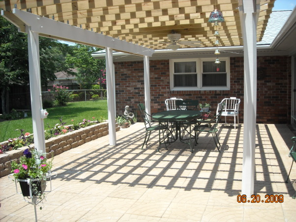 Wheechair Friendly Patio, I was unable to get onto our patio without assistance.  Plus, I needed to be able to get around the outdoors of the house.  We did it!, We love to dine outside!  It's added another living space to our home!  , Patios & Decks Design