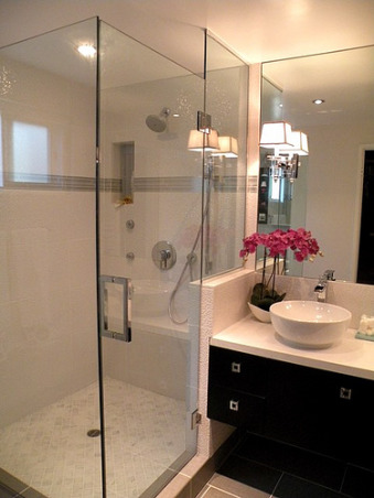 From ick to slick!, Taking a 1964 bathroom with horrible brass accents to 2009 with inspiration from Candice Olson, Bathrooms