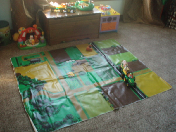 John Deere Boys' Room , I have 3 girls and 1 Boy !!!!!, The Floor rug is a play mat from my Husband when He was a kid    , Boys' Rooms Design