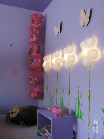 Our 4 Year Old Girl's Room - She Loves Purple, We incorporated a lot of the outdoors as well as a padded bed frame, Girls' Rooms Design