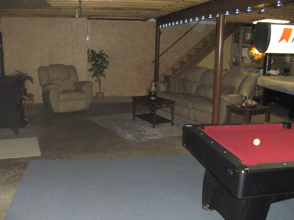 Information about rate my space questions for Man cave ideas unfinished basement
