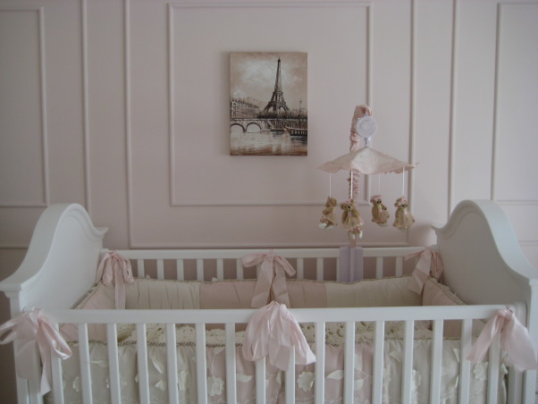 Sophia's Ballerina Nursery, This is the nursery we built for our future daughter Sophia Nicole. We wanted a nursery with a little romance, a little of France and a little Ballet which combine my passion for dance and my husband's passion for travelling. Thanks for checking it out and rating it, we appreciate the feedback!, We picked up the wall pictures during a recent vacation in Paris. I thought it was the perfect piece to complement Sophie's nursery., Nurseries Design