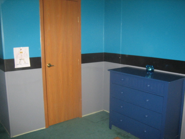 My 4 year old bedroom , This is my boy's bedroom. I recently painted it and I loved the result! I just need help decorating it according to the style of it!, this door is his closet, Boys' Rooms Design