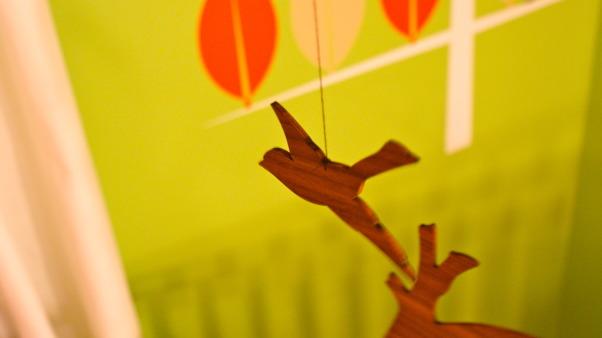 Modern Tangerine forest, Gender-neutral nursery, Nurseries Design