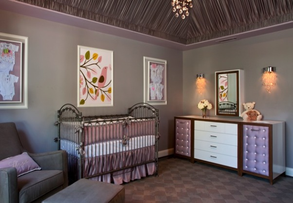 Modern Glam Nursery in OC Residence by Little Crown Interiors, Interior Design by Little Crown Interiors Photography by Full Spectrum Photo Studio, Interior Design by Little Crown Interiors Photography by Full Spectrum Photo Studio   , Nurseries Design