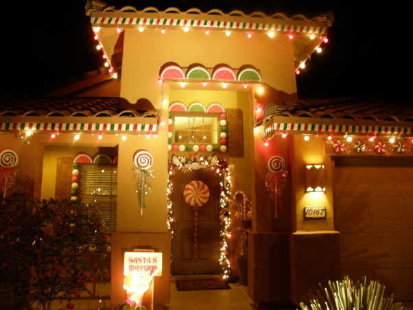 Gingerbread House, We decorated the outside of our house to look like a gingerbread house. , Our house made into a gingerbread house  , Holidays Design