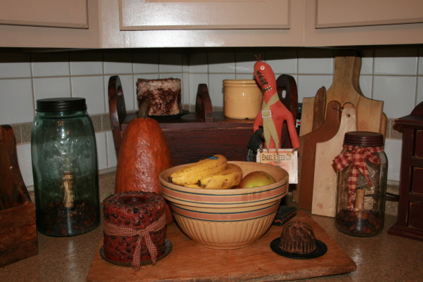 My Primitive/Country Kitchen, This is just a picture I pulled from my fall pictures.  I always change this with the seasons.  , Kitchens Design