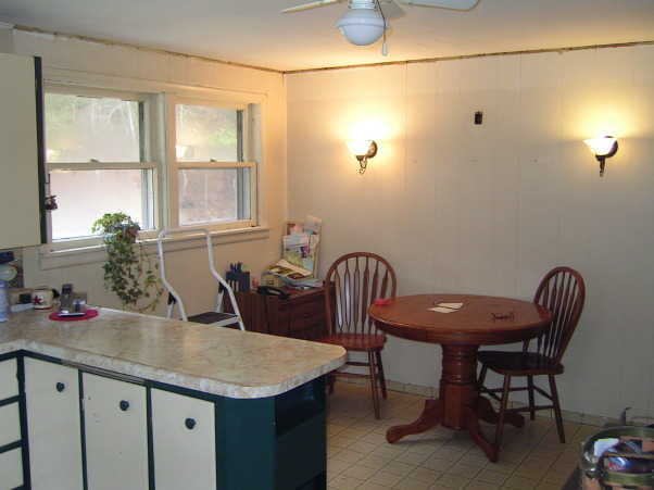 COUNTRY KITCHEN MAKEOVER ON A BUDGET, SIMPLY COUNTRY PRIMITIVE KITCHEN MAKEOVER, dining room BEFORE RENO , Kitchens Design