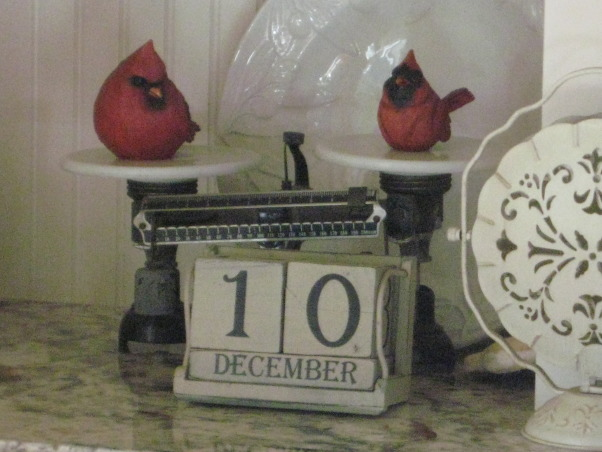 NorthWest Home For The Holidays, Welcome to our new home for it's very first Christmas.  Please make yourself at home., I love these little red cardinals on my vintage scale. , Holidays Design