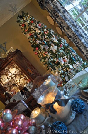 Christmas Open House, Just a peek at how this Southern Girl decks the halls~Welcome!, I love my very prissy dinning room tree! It holds all the ornaments that just scream: I'm a girl!!!, Holidays Design