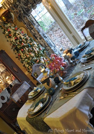 Christmas Open House, Just a peek at how this Southern Girl decks the halls~Welcome!, Now into the dinning room where I really changed up my colors this year!, Holidays Design