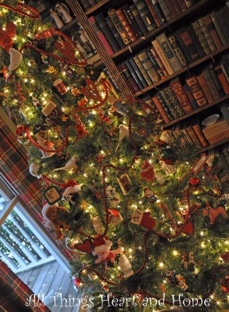 Christmas Open House, Just a peek at how this Southern Girl decks the halls~Welcome!, Off the foyer is our little library room. This is visible from the den and a perfect place for the main Christmas tree.     , Holidays Design