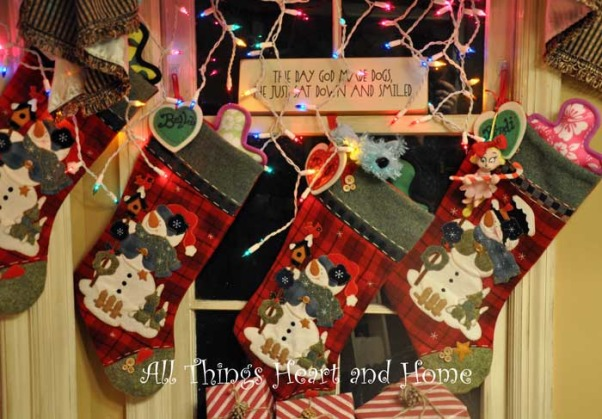 Christmas Open House, Just a peek at how this Southern Girl decks the halls~Welcome!, The 4 pups hang their stockings in their favorite room in the house: The Kitchen!!!, Holidays Design