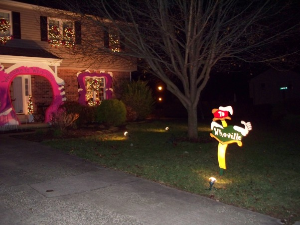 WELCOME TO WHOVILLE, This is the outside of our Home for Christmas this year. I hope you all enjoy the pictures as much as we did creating it. Happy Holidays to all the Rate My Space fans.   Bob & Jack, Home Exterior Design