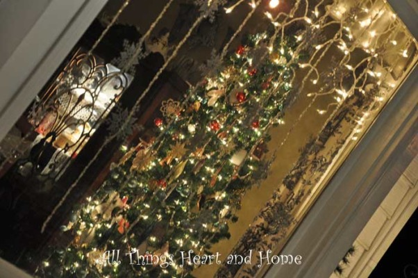 Christmas Open House, Just a peek at how this Southern Girl decks the halls~Welcome!, Here's a peek from the outside into the dinning room, it's particularly pretty at night..., Holidays Design