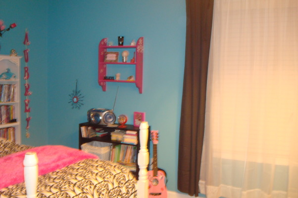 8 year old fun space, My 8 year old daughter wanted a fun bedroom that she felt grown up in.  She is very happy with the way it turned out., Another view, Girls' Rooms Design