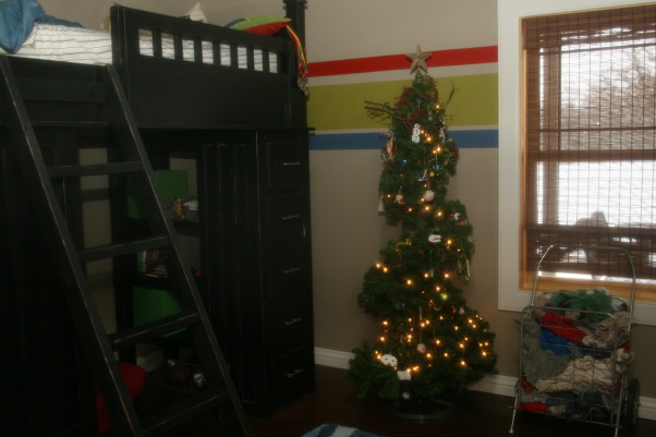 Holiday HOme Tour, We participated in our local home tour this year...whew...I have been doing Christmas since Halloween!  Lots of work....but lots of fun!, Son's room and loft bed  , Holidays Design