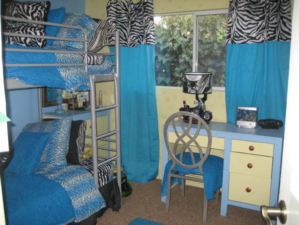 zebra rooms, zebra print rooms, zebra print and blue boys' bedroom, Bedrooms Design