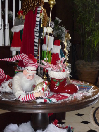 Magical Christmas 2009, I created this space with children in mind. I use my kids toys, old books and a collection of toy soldiers and elves to createa fun and magical space. I have seven trees this year but the entry tree with all of our handmade ornaments and memories from our past is one of my favorites. , Holidays Design