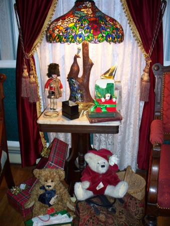 turn of the century christmas, antique scottish soldier that I got for Christmas from my husband, Holidays Design