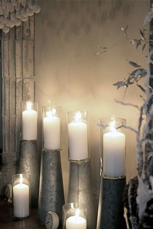 New Year's Eve - A Moment in Time, I keep candles in glass for safety.  , Holidays Design