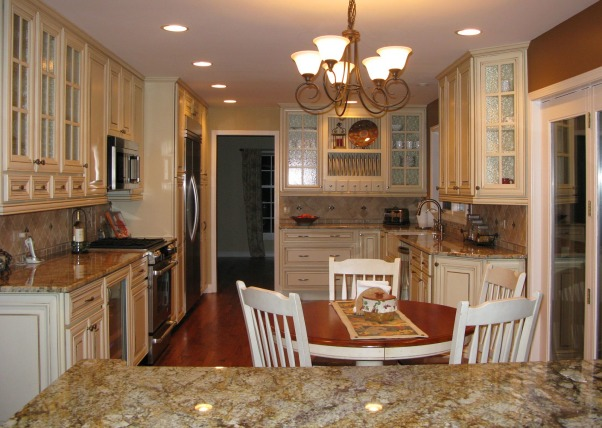 Dark and Gloomy to Bright and Open, French Country Kitchen Remodel.  Reposted as we made a few changes since the first post.  Great experience working with Kitchen Discounters of America in Lake Zurich, IL http://www.kitchen-discounters.com/ , Kitchens Design