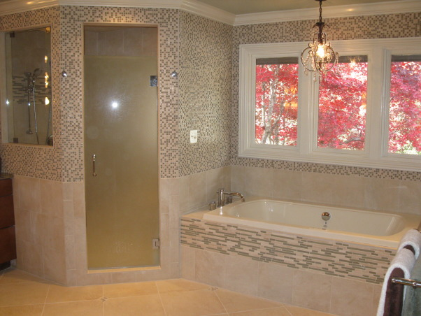 Rainforest, Renovation of  25 year old master bathroom. Updated by adding a walkin closet and sauna in addtion to replacing all fixtures,countertops and tile., Bathrooms Design