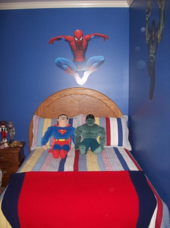 Marvel Superhero Room, My 4 year old son loves Superheros. We based his room off of Spiderman and the marvel comic book characters., Boys' Rooms Design