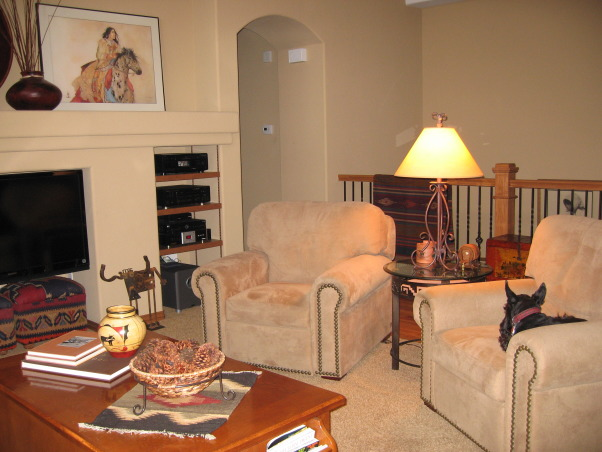 santa fe style family room we moved from a larger older home to a