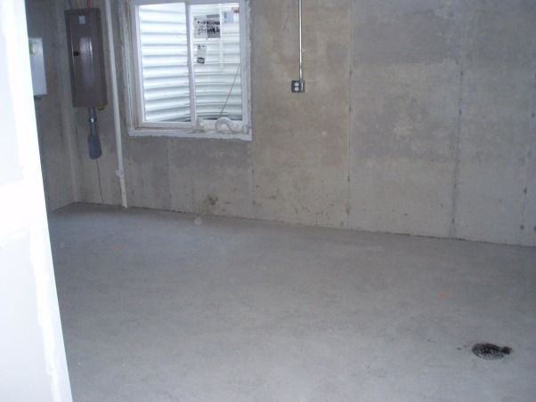Unfinished Basement/Laundry Area, From an unfinished concrete basement to a finished gameroom/family room, Unfinished , Basements Design