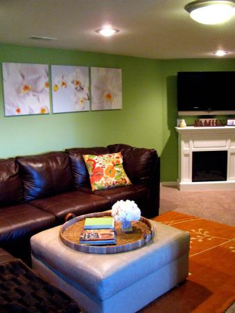 Finished Basement Family/Game Room, Basements Design
