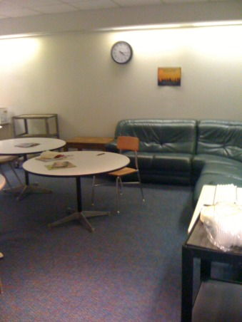 Teacher's Lounge, My space is the Teacher's Lounge in my daughter's school.  I would like to remodel this space so that her teachers can have a fun and functional place to relax, eat lunch, and complete projects., Other Spaces Design