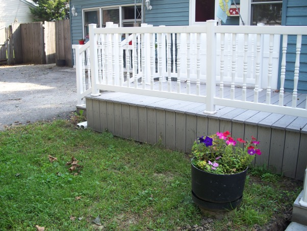 Do It Yourself Porch, Front porch built by homeowner on One leg., Railings on. , Porches Design