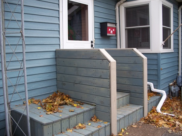 Do It Yourself Porch, Front porch built by homeowner on One leg., Stained and finished!!, Porches Design