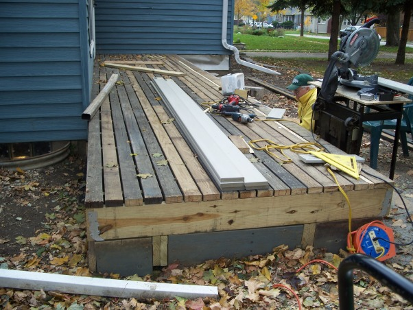 Do It Yourself Porch, Front porch built by homeowner on One leg., Process continues.    , Porches Design