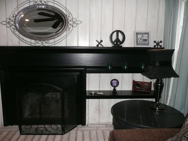 "My families room, ""New Urban"", antique glaze, has been applied to the fireplace mantel.  , Other Spaces Design"