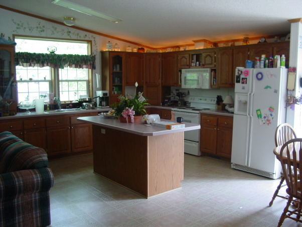 manufactured home makeover, Trying to give our manufactured home a custom look. How to do think the kitchen turned out.  New everything, new drywall, lighting, appliances, cabinets and tile flooring, Before pic of our kitchen  , Kitchens Design