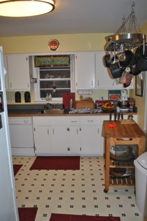 Small 1955 Kitchen, 1955 original cabinets tiny kitchen.  Need help with ideas to better utilize space, 1955 Kitchen View 2, Kitchens Design