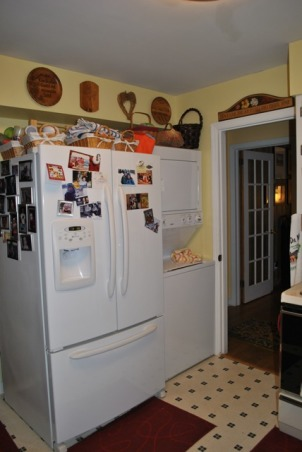 Small 1955 Kitchen, 1955 original cabinets tiny kitchen.  Need help with ideas to better utilize space, 1955 Kitchen View 5 - washer/dryer, , Kitchens Design