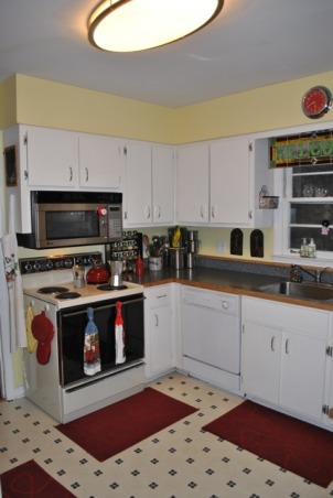 Small 1955 Kitchen, 1955 original cabinets tiny kitchen.  Need help with ideas to better utilize space, 1955 Kitchen View 3, Kitchens Design