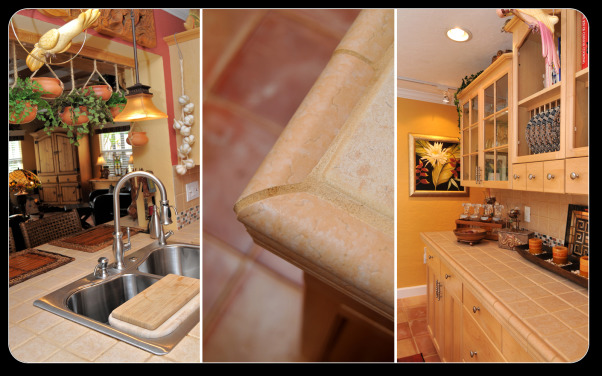 A casual Kitchen, From a 12X10 kitchen to our new space, Sink, tile detail and serving area, Kitchens Design