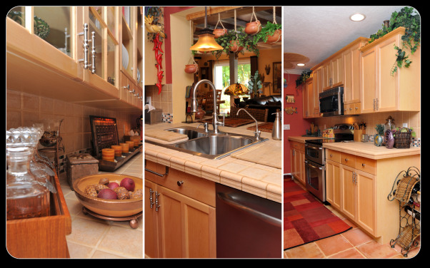 A casual Kitchen, From a 12X10 kitchen to our new space, Serving area, sink and stove wall, Kitchens Design