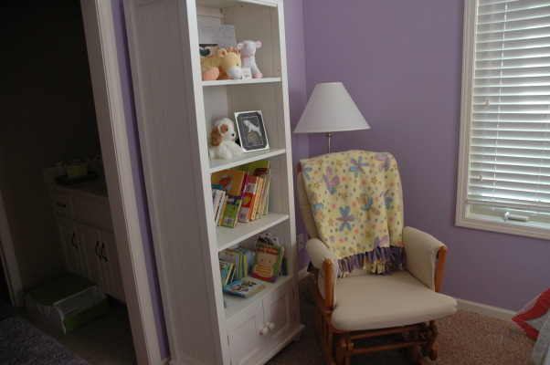 3-Year Old Bedroom, We took down the toddler bed and put a full size bed set in my daughter's room.  She absolutely loves it., The reading corner. , Girls' Rooms Design